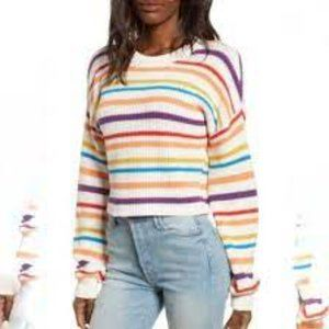 BP Striped Cropped Sweater